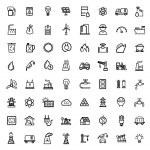 Vector black energy icons set — Stock Vector
