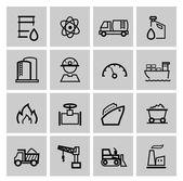 Vettoriale icone di potenza ed energia — Vettoriale Stock
