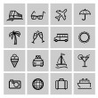 Stockvektor : Tourism set icons