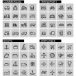Vector black transport icons set — Stock Vector #41111063