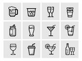 Icon beverage — Stock Vector