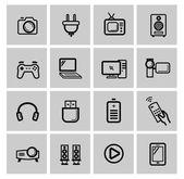 Vektor-Elektronik-Icon-set — Stockvektor