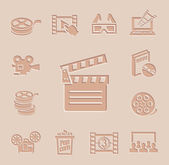 Vector movie icon set — Stock Vector