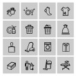 Stock Vector: Vector black cleaning icons set