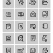 Vector document icons set — Stock Vector