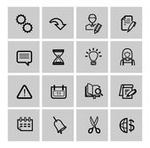 Vector black web icons set — Stock Vector