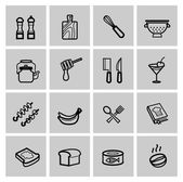 Vector food icons set — Vecteur
