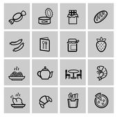 Vector food icons set — Stock Vector
