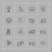 Auto icons set — Stock Vector