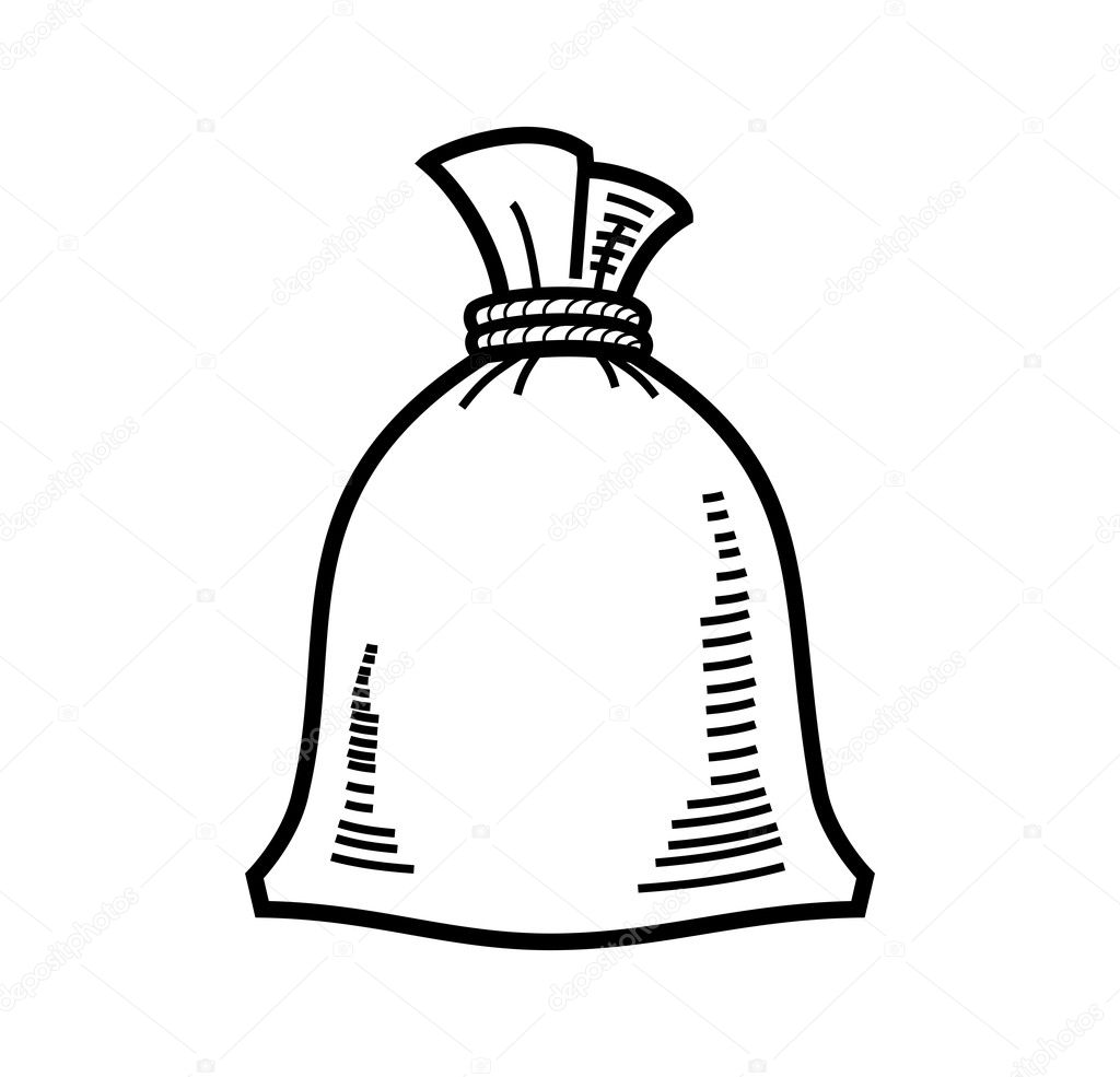 Раскраска мешок для детей