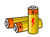 Batteries icon — Stock Vector