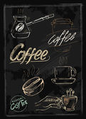 Chalk coffee — Stock Vector