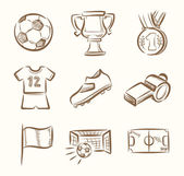 Futbol Icon set — Stok Vektör