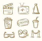 Zestaw ikon film — Wektor stockowy