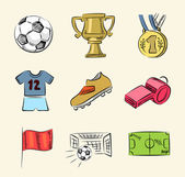 Soccer icon set — Stock Vector