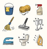 Cleaning icon set — Stock Vector