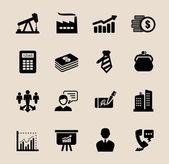 Business ikoner set — Stockvektor