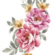Stock Photo: Watercolor illustration flower