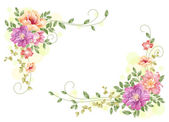Flores dispostas — Fotografia Stock