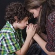 Stock Photo: Family Praying