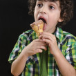 Boy Eating Ice Cream — Stock Photo #12430506