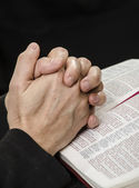 Clasped Hands in Prayer — Stock Photo