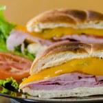 Ham and Cheese Sandwich — Stock Photo #13177348