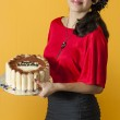 Holding a Cake — Stock Photo #13345344