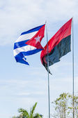 Two Main Cuban Flags — Stock Photo