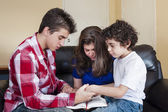 Christian Family Praying — Stock Photo