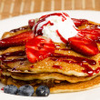 Delicious Pancake with Fruit — Stok fotoğraf