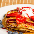 Stockfoto: Delicious Pancake with Fruit