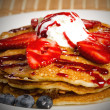 图库照片: Delicious Pancake with Fruit