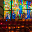 Candles for Prayers in a Catholic Church — Stock Photo #23625101