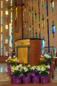 Front Part of a Catholic Church — Stock Photo