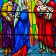 Stock Photo: Stained Glass in Catholic Church