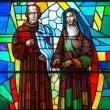 Stained Glass in a Catholic Church — Stock Photo
