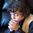 Young Latin Boy Praying — Stock Photo