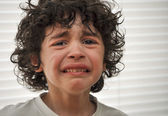 Hispanic Child Sad and Crying — Stockfoto