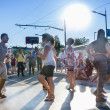 Stock Photo: Dancing on St Clair SalsFestival
