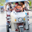 Taxi Motorbike Transporting Passengers — Stock Photo