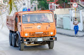 Old Kamaz Truck Running — Stock Photo