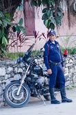 Transit Policeman in Cuba — Stock Photo