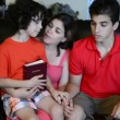 Stock Video: Hispanic Family in Relationship with God