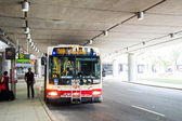 Place where Pearson International airport connects with Toronto Transit Commission- the public transportation system for the city — ストック写真