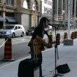 Street Performer Outside Eaton Center in Toronto,Canada — Stock Video
