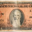 Old collectible Cuban bills made by the American Bank Note Company — Photo