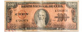 Old collectible Cuban bills made by the American Bank Note Company — Stock Photo