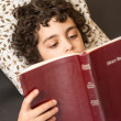 Child Reading the Bible — Stock Photo