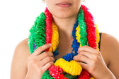 MULTICOLOUR PARTY LEIS — Stock Photo